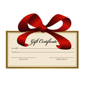 gift certificate bow